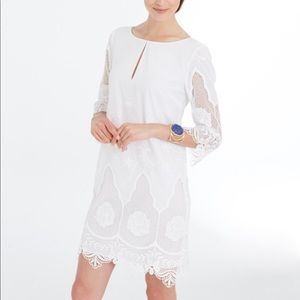 ANN TAYLOR • FLORAL EMBROIDERED LACE TUNIC DRESS